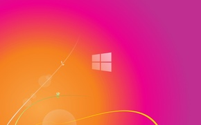 Picture line, bright, abstraction, background, pink, color, range, minimalism, texture, the transition, pink, orange, windows 8