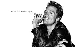 Picture smile, background, jacket, male, actor, Matthew McConaughey, Matthew McConaughey