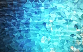 Picture water, light, line, blue, blue, triangles, pool, angle, faces, geometry, polygons, combination