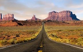 Wallpaper road, track, Desert
