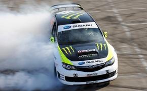 Picture skid, drift, drift, car, subaru, monster, rally, impreza, race, Subaru, monster, energy, Impreza, energy, wrxSTI
