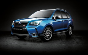 Wallpaper Forester, Subaru, Subaru, Forester, black background