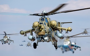 Wallpaper helicopters, mi-24, mi-28