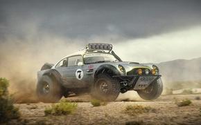 Wallpaper Aston Martin, Race, Tuning, Dakar, Future, Sand, DB5, Offroad, by Khyzyl Saleem, Hugo Silva