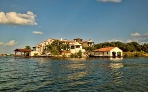 Picture lake, Villa, house, lake, Horseshoe bay