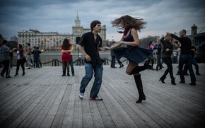 Picture the city, Moscow, dancing, pair