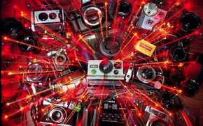 Picture blur, cameras, lenses, film, the red-yellow rays