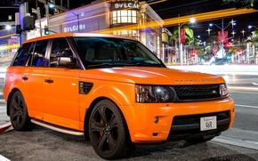 Picture orange, tuning, sport, Land Rover, orange, land Rover, matte