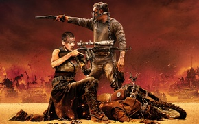 Picture movie, Charlize Theron, Tom Hardy, Mad Max: Fury Road, Mad Max: fury Road