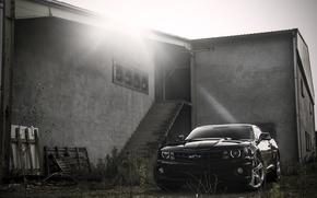 Picture black, the building, steps, Chevrolet, black, Blik, camaro, chevrolet, Camaro