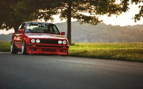 Picture tuning, BMW, BMW, red, red, tuning, E30