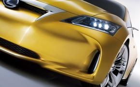 Wallpaper Lexus, LF-Ch, yellow, wheel