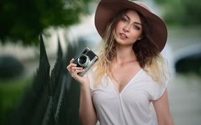 Picture girl, portrait, the camera, photographer, Tanya, Robert Chrenka