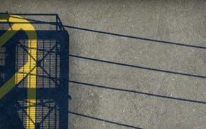 Picture asphalt, bridge, wire, strip, shadow, nuke