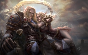 Picture girl, art, WoW, World of Warcraft, guy, AivaBlue, blood elves