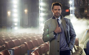 Picture light, smoke, advertising, photographer, actor, hall, coat, Hugh Jackman, Hugh Jackman, brand, Montblanc, Gilles-Marie Zimmermann