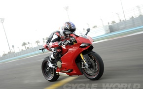 Picture speed, motorcycle, racer, ducati, panigale
