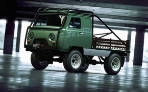 Picture 4x4, UAZ, loaf, offroad