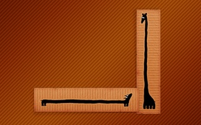 Picture line, figure, minimalism, giraffe, Dachshund