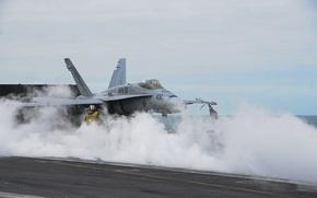 Picture fighter, deck, the rise, multipurpose, FA-18C Hornet