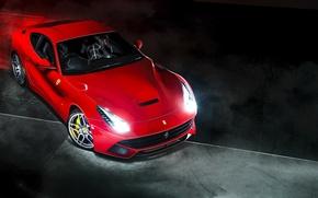 Picture red, Ferrari, red, Ferrari, Berlinetta, F12, Kahn Design