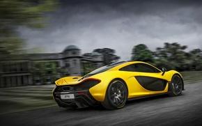 Picture McLaren, Yellow, McLaren, Lights, Speed, Drives, Supercar, Yellow, Hypercar, Supercar, Wheels, Spoiler, Headlights, Hypercar, Spoiler