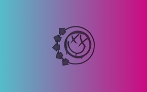 Picture pink, blue, minimalism, Blink-182