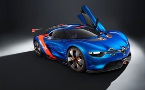 Picture Renault-Alpine A110-50, blue car, Concept-Blue