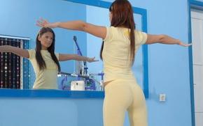 Picture Look, Mirror, Brunette, Looks, Sport, Angelica Black