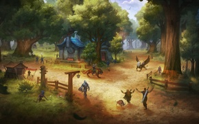 Picture wow, world of warcraft, zlatosel, goldshire