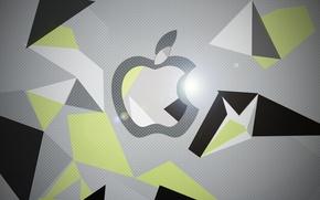 Picture Apple, graphics, photoshop, Black, iPad, Hi-Tech, Retina, Grey, iPad Retina, Green