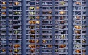 Picture windows, building, apartment