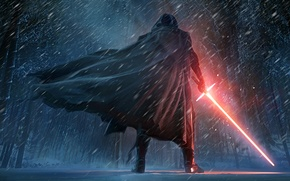 Wallpaper The, Dark, Kylo Ren, Force, Sword, StarWars, Wallpaper, Fantasy, Laser, Walt Disney Pictures, Star Wars: ...