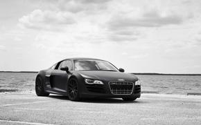 Picture Audi, black, audi r8, tuning