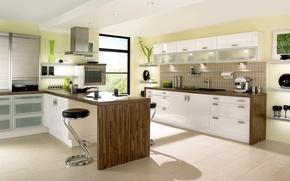 Picture design, house, style, Villa, interior, kitchen, White kitchen designing