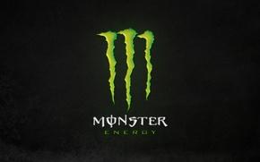 Wallpaper green, logo, monster, background, energy, monster energy