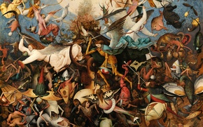 Picture Pieter Bruegel The Elder, 1562, The Fall of the Rebel Angels, The fall of the …