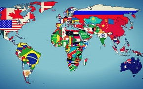 Picture world, earth, map, states, geographic map