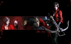 Picture red, gun, blood, game, weapon, woman, spy, cross, Resident Evil, Umbrella, asian, agent, bow, Biohazard, …