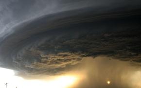 Wallpaper storm, hurricane, road