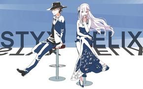 Picture girl, anime, art, guy, Subaru, Re: Zero kara hajime chip isek or Seikatsu, From scratch