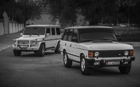 Picture mercedes, range rover, G55, classic, g class