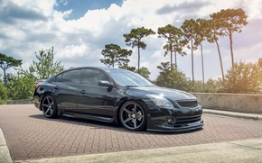 Picture nissan, black, tuning, maxima