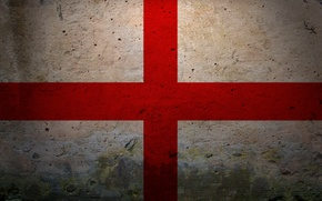Picture red, white, England, cross, Flag