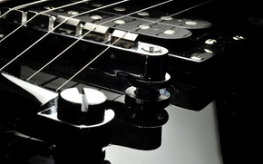 Picture GUITAR, BLACK, SURFACE, STRINGS, LACQUER, PICKUP