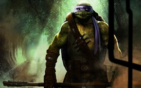 Picture art, Donatello, stick, Teenage Mutant Ninja Turtles, teenage mutant ninja turtles, Sewerage