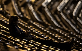 Picture Brad Pitt, Night, Wallpaper, Photo, Man, Moneyball, Movie, Film, Seats, The man who changed everything