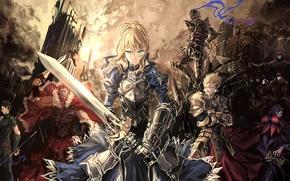 Picture the city, weapons, armor, saber, lancer, rider, assassin, servants, berserker, archer, caster, Fate/Zero