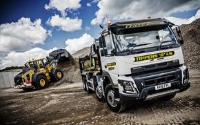Wallpaper truck, FMX, Volvo, machinery, Volvo
