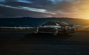 Picture Mercedes-Benz, Nature, Sky, California, Motorsport, Summer, Sonic, E63, Rear, Ligth, Nigth, AMG S